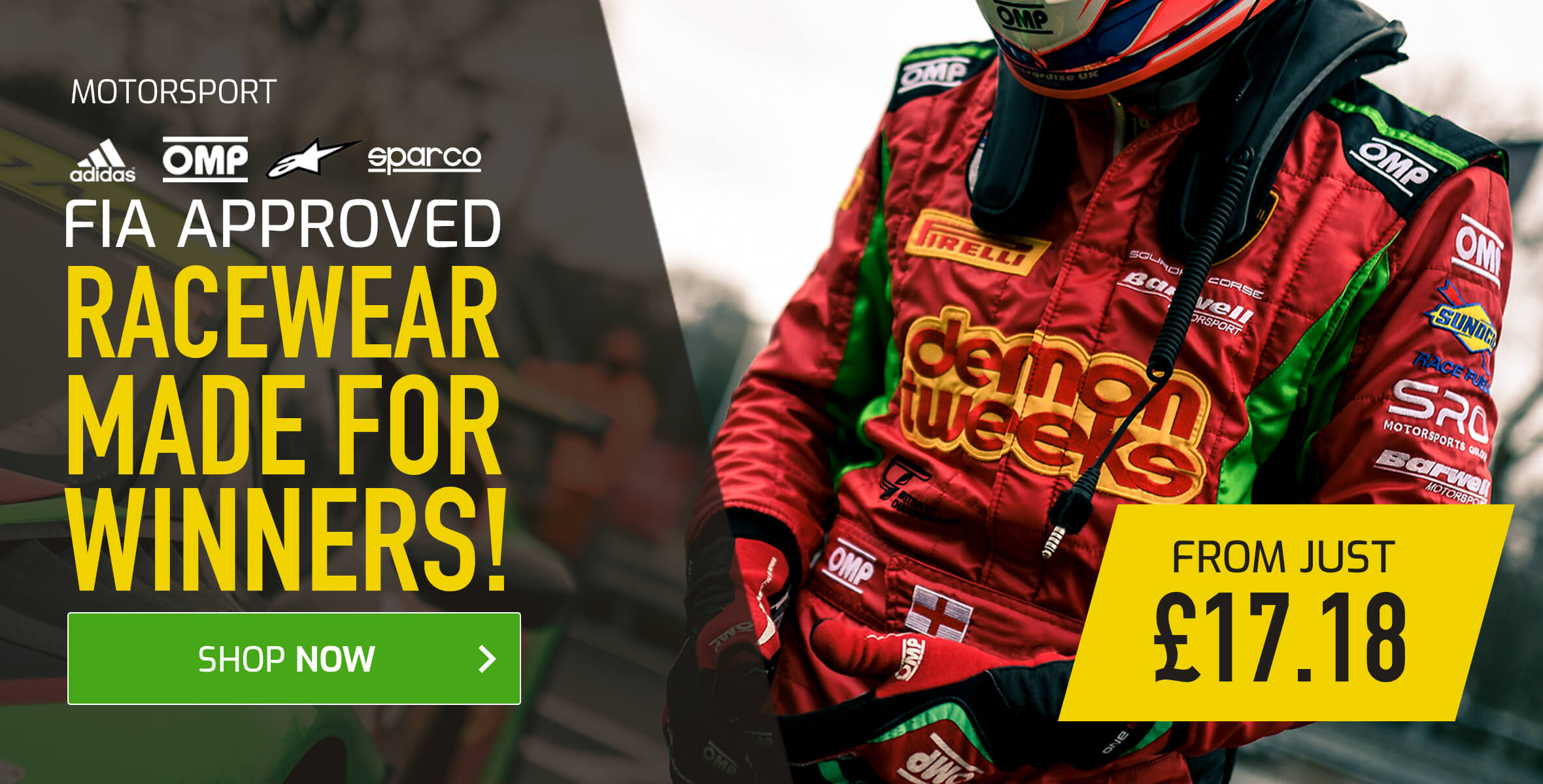 FIA Approved Racewear Made For Winners!