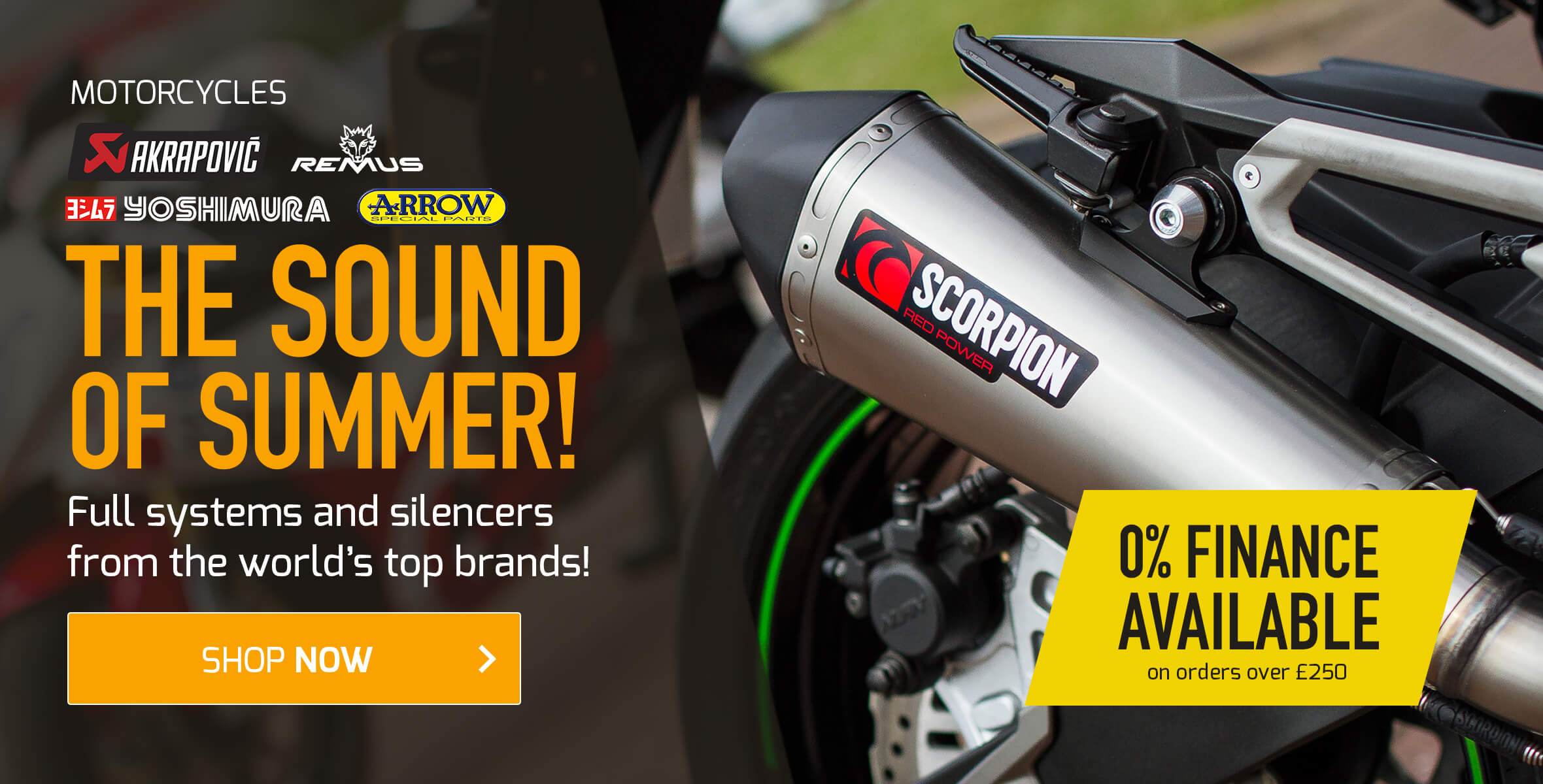 The Sound of Summer - Full Systems and Silencers from Top Brands