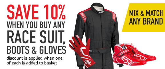 10% off when you buy a racesuit, gloves and boots