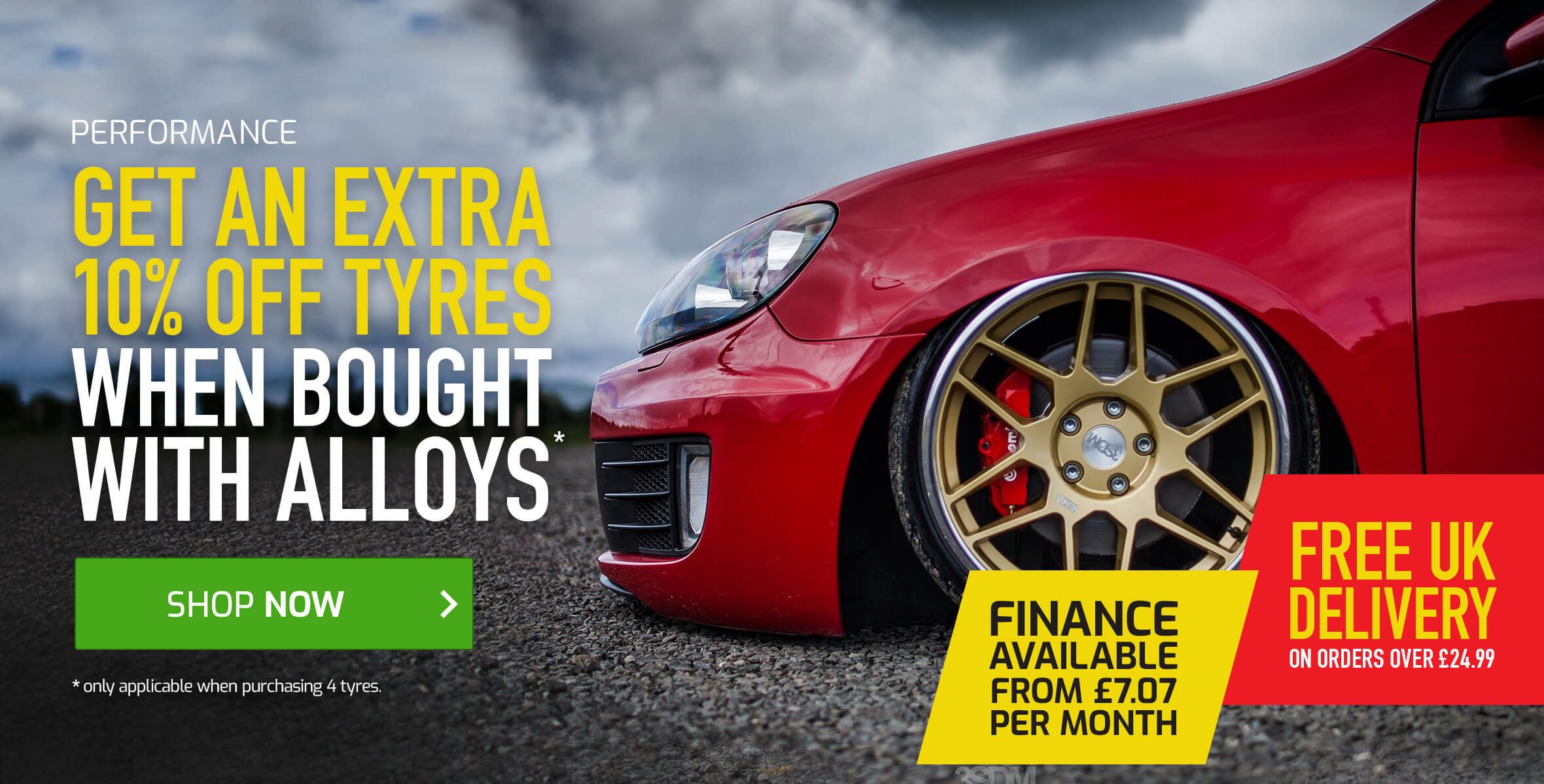 Save An Extra 10% off Tyres When Bought With Alloys