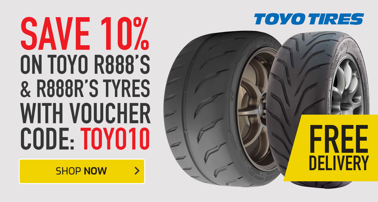 Save 10% on Toyo R888's or R888R's