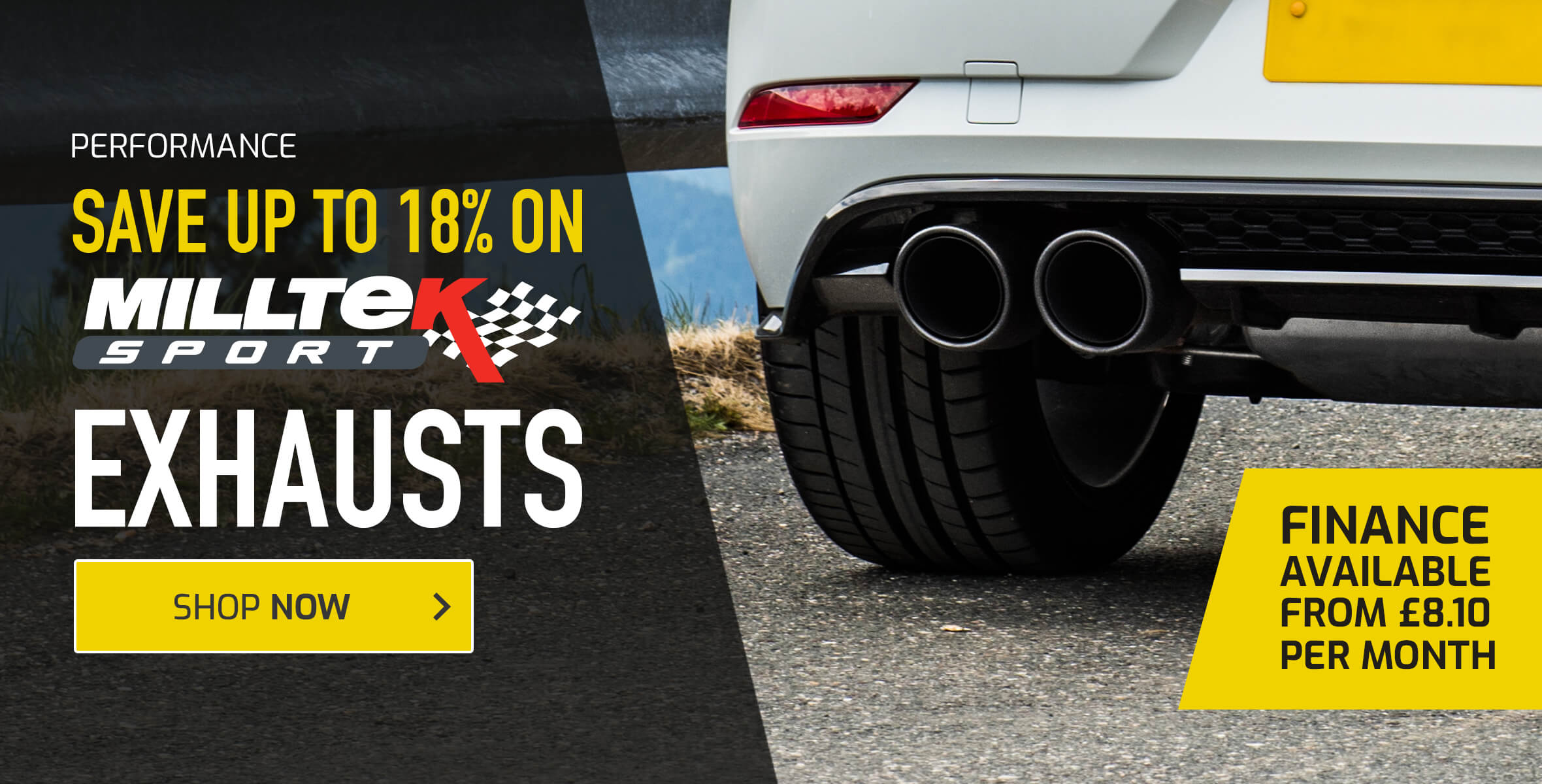 Save up to 18%  on Milltek Sport Exhausts