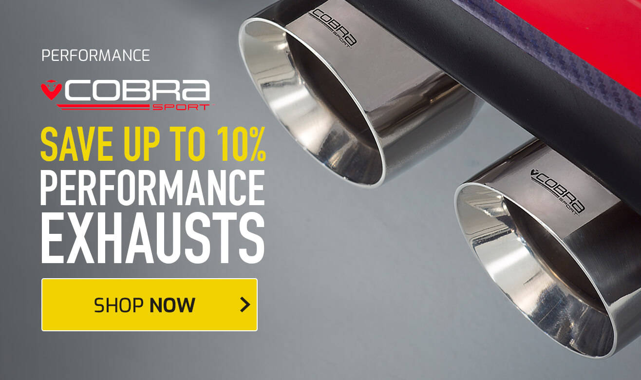 Save up to 10% on Cobra Sport Exhausts