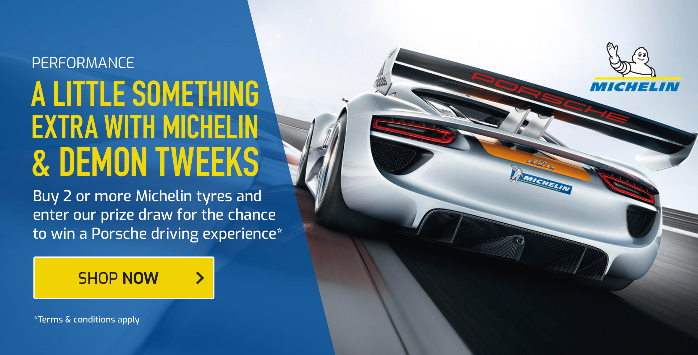 Buy 2 or More Michelin Tyres and Enter A Prize Draw