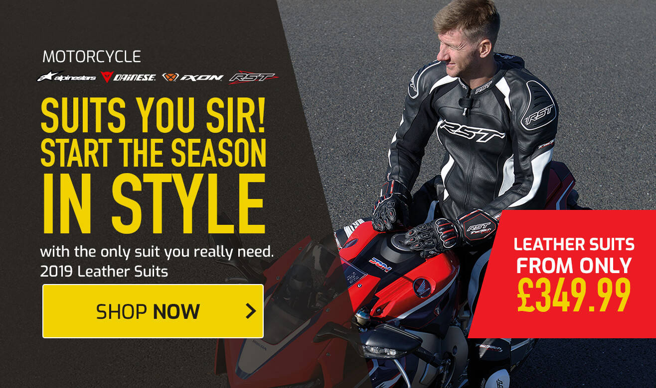 Motorcycle Leather Suits from £349.99