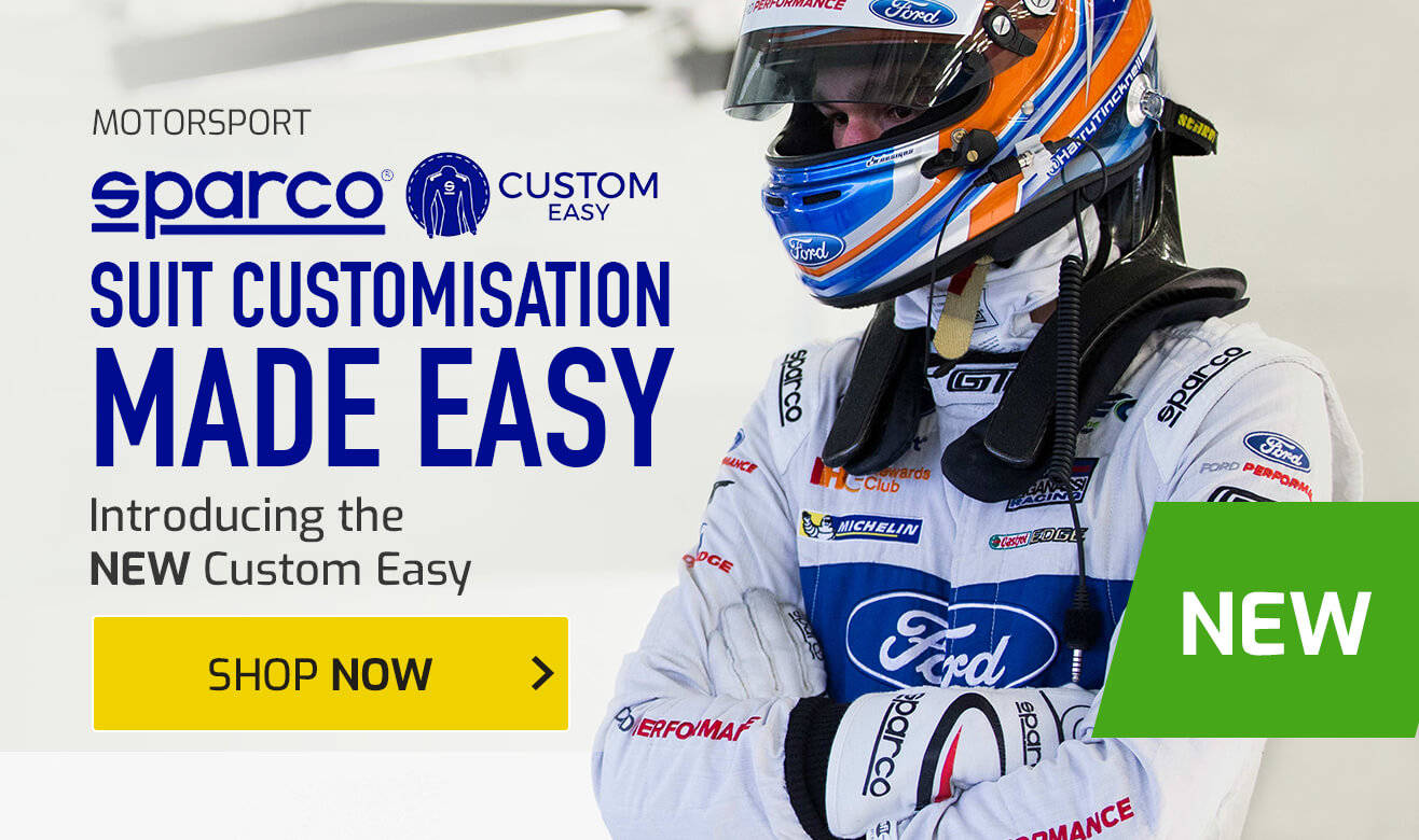 Sparco Suit Customisation Made Easy