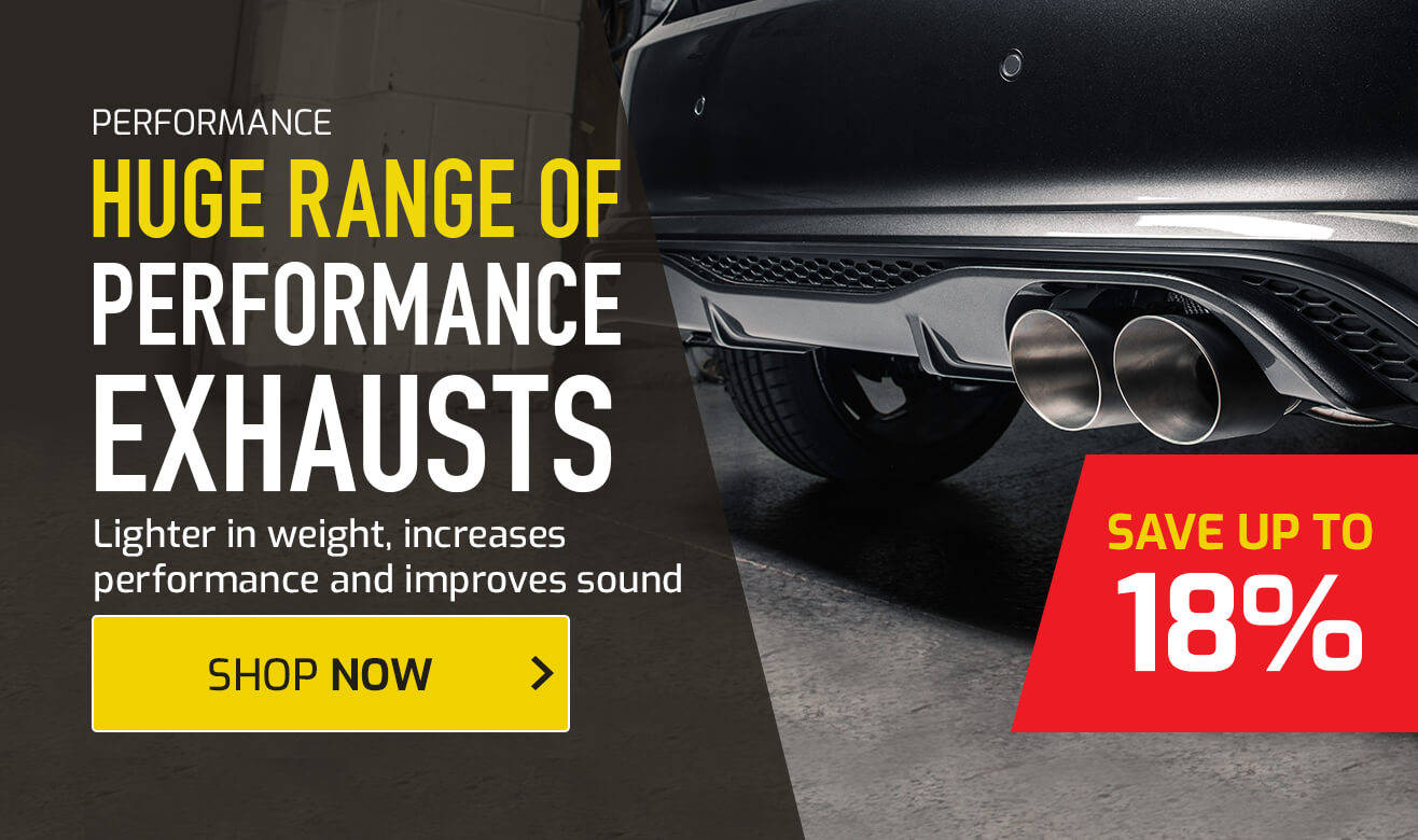 Save up to 18% on Performance Exhausts