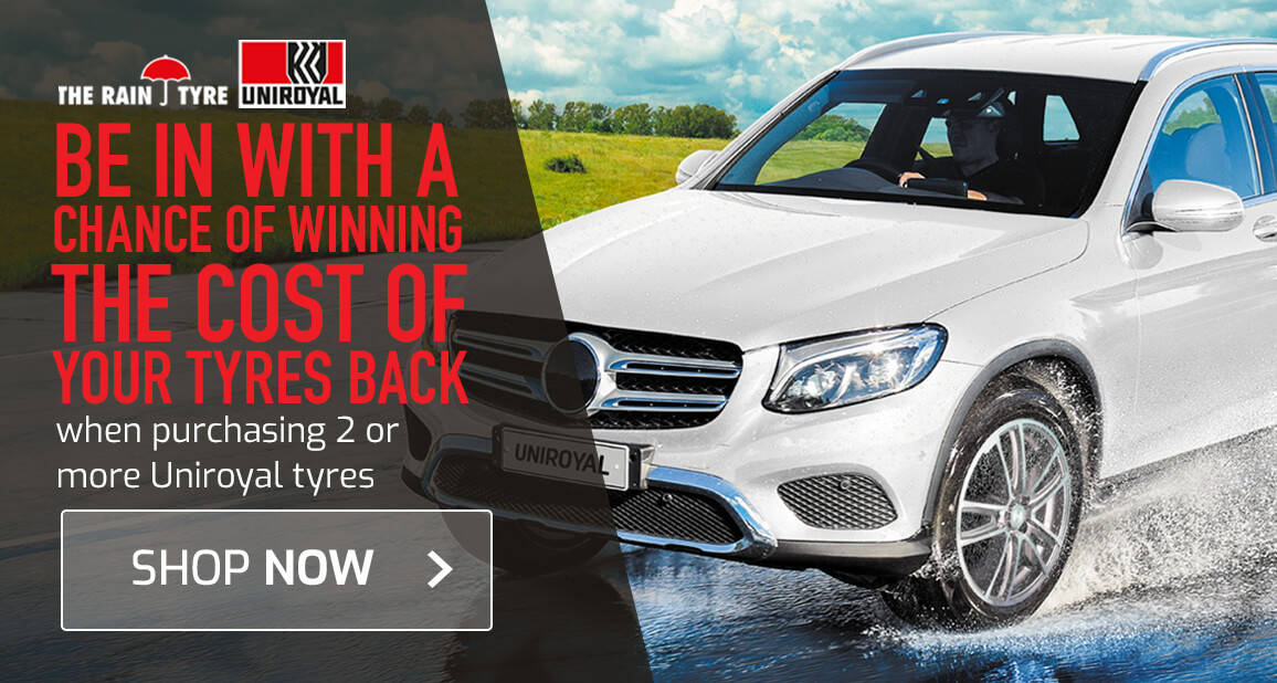 Buy 2 or more Uniroyal tyres and get the chance to win the cost of the tyres back