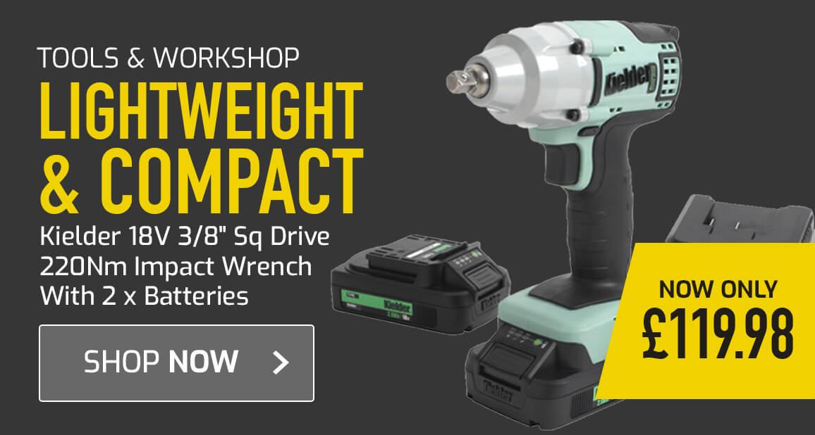 Lightweight & compact Kielder 18V 3/8 Inch Sq Drive Impact Wrench