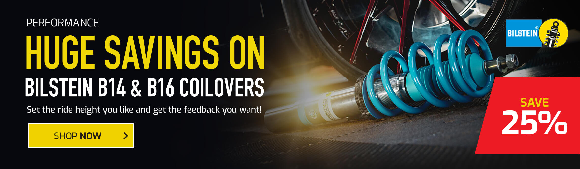 Save 25% on Bilstein B14 & B16 Coilovers
