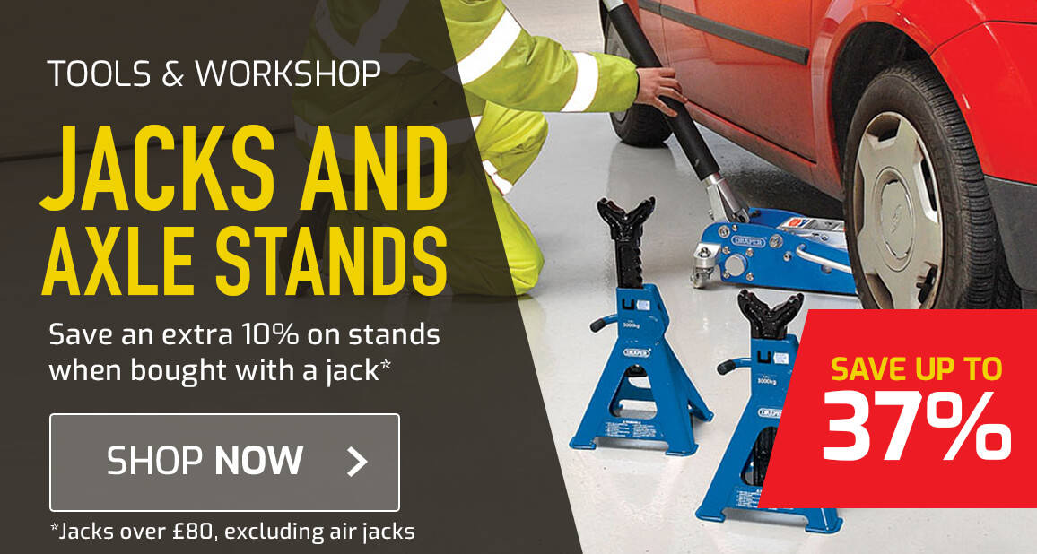 10% off axle stands when purchasing a jack over £80*