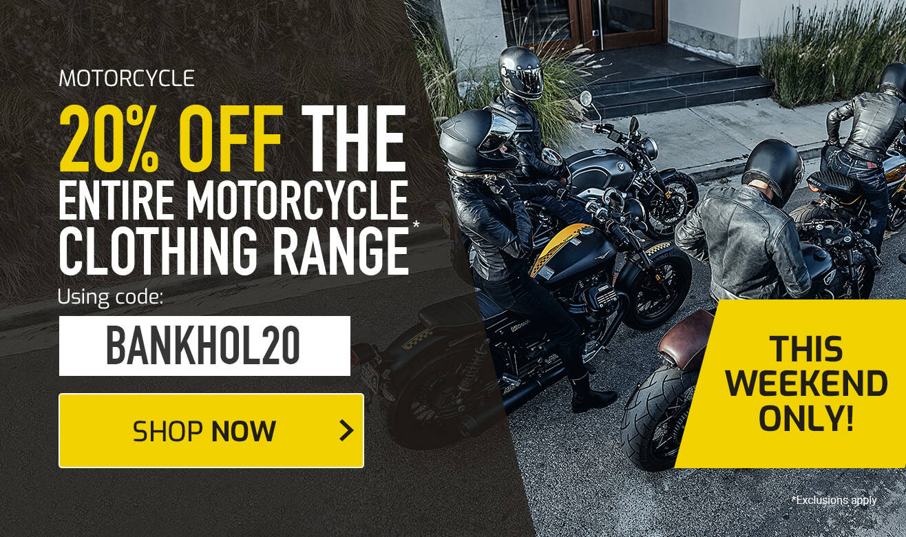 20% Off Motorcycle Clothing - BANKHOL20