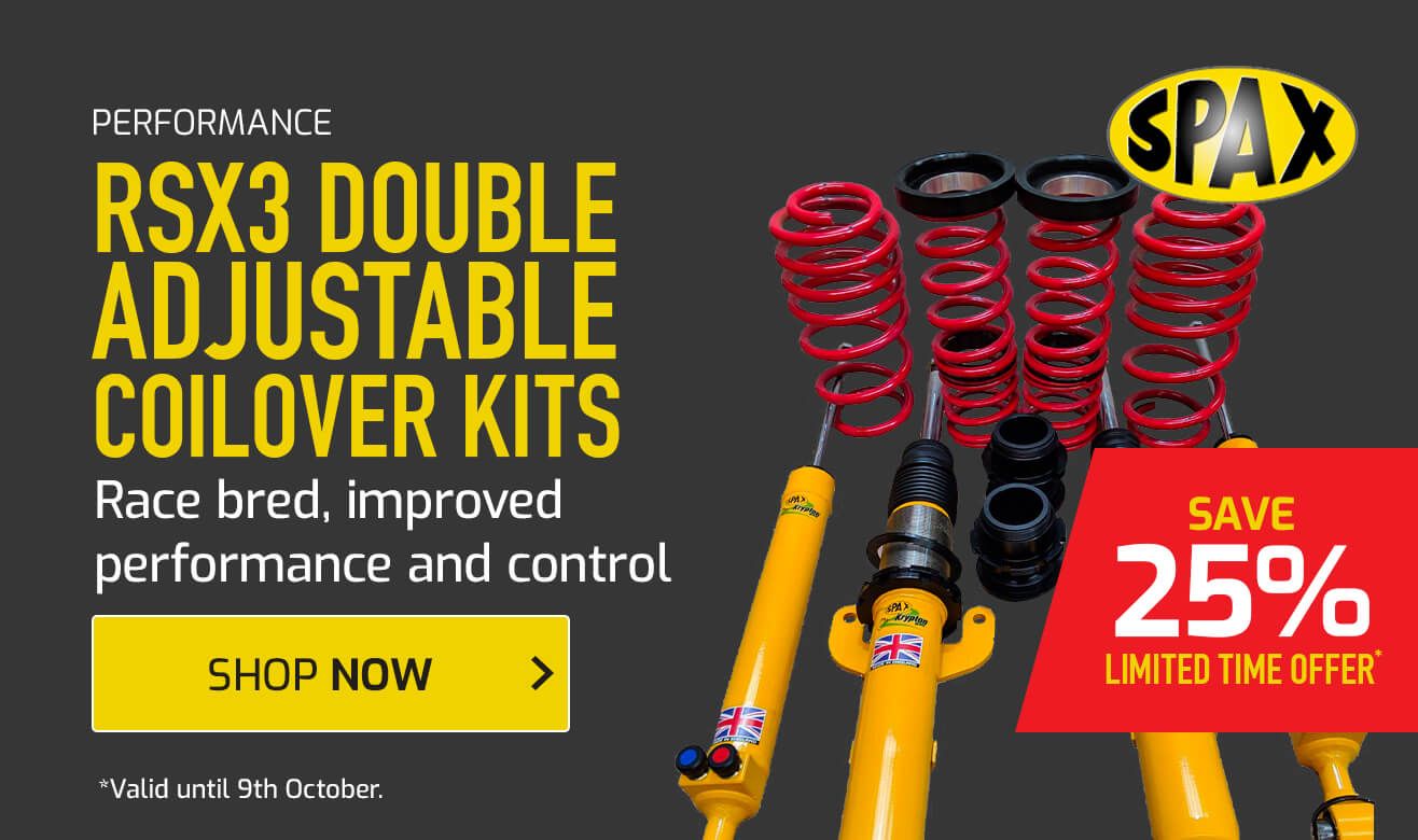 Save 25% on Spax RSX3 Double Adjustable Coilover Kits