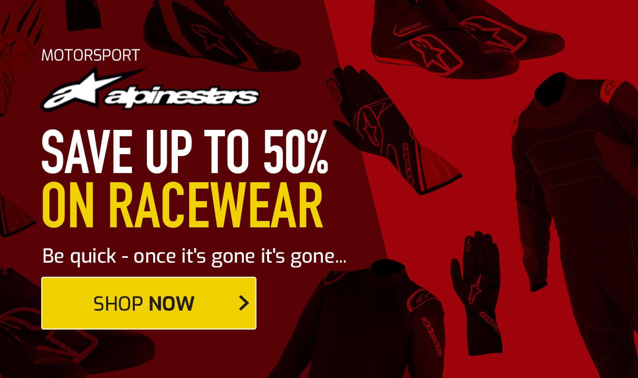 Save up to 50% on Alpinestars Racewear