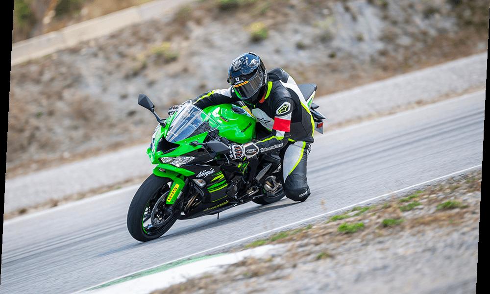 Barry Massey on motorcycle