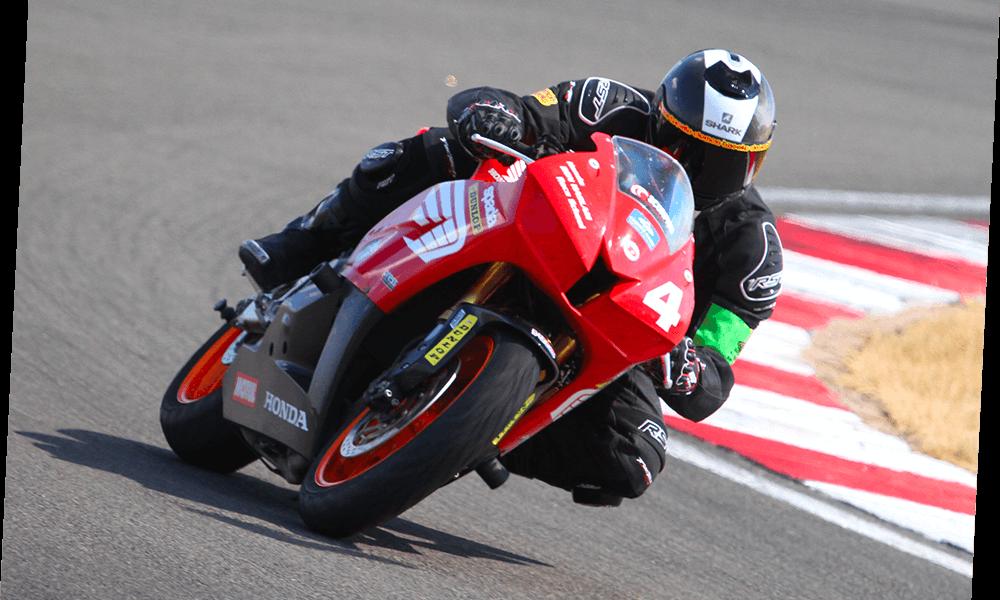 Jamie Ellis on motorcycle