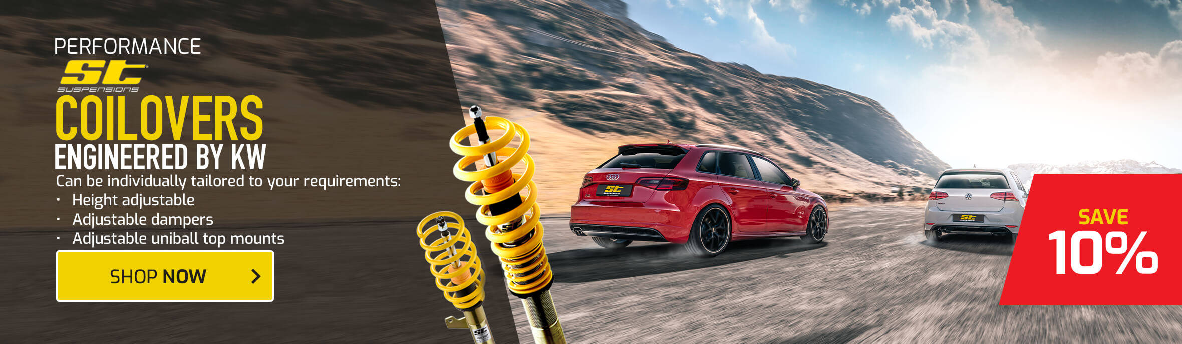 Save 10% on ST Suspension Coilovers