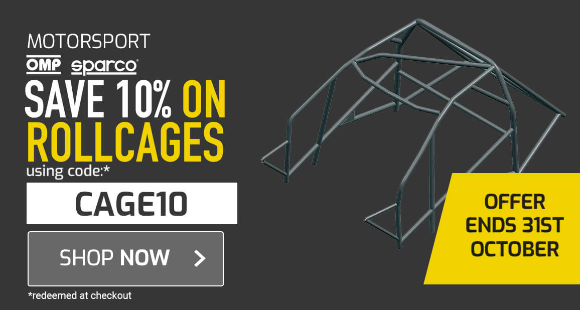 10% off Sparco & OMP Rollcages
