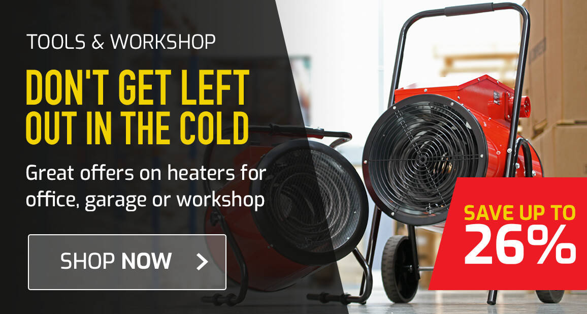 Great offers on heaters for office, garage or workshop