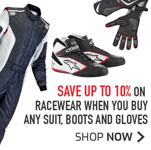 Save 10% on Racewear when you buy any Suit, Boots and gloves