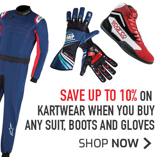Save 10% on Kartwear when you buy any Suit, Boots and gloves
