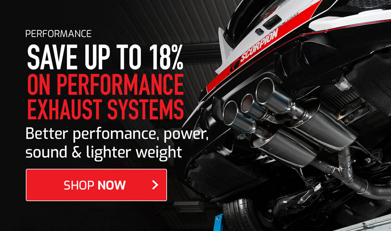 Save up to 18% on Performance Exhaust Systems