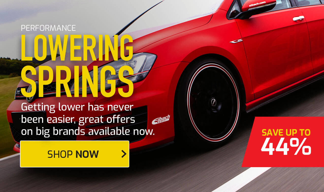 Save up to 44% on Performance Lowering Springs