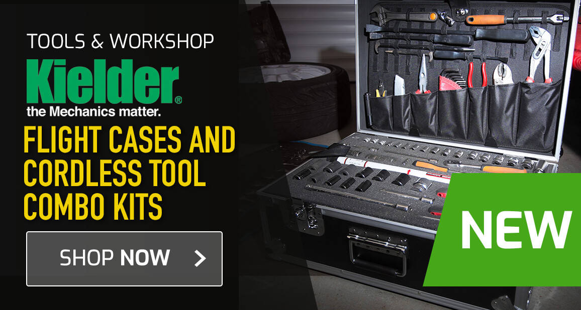 NEW - Kielder Flight Cases and Cordless Tool Combo Kits