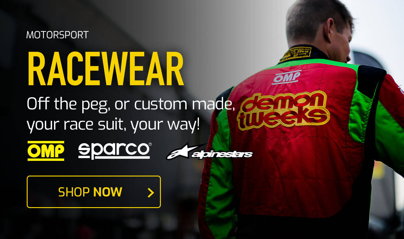 Off the peg, or custom made, your race suit, your way!
