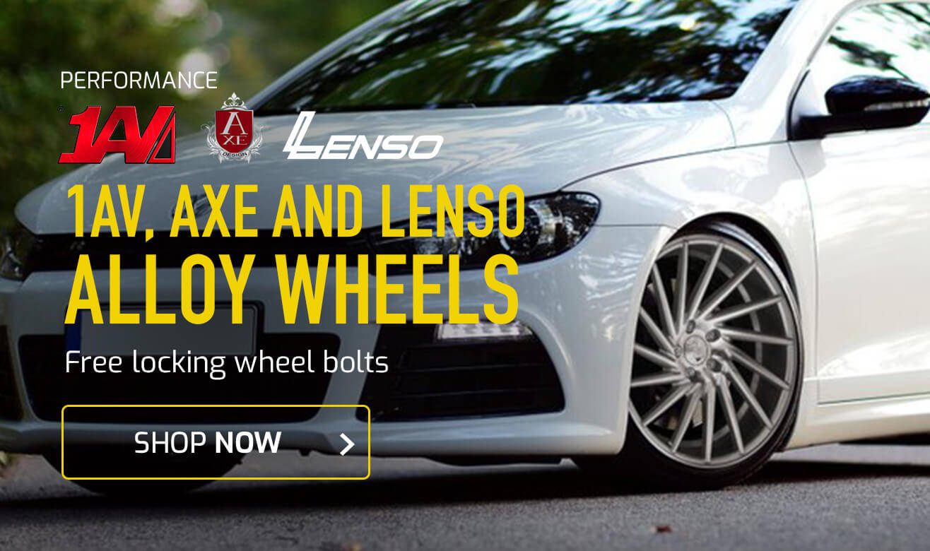 1AV, AXE and Lenso Alloy Wheels