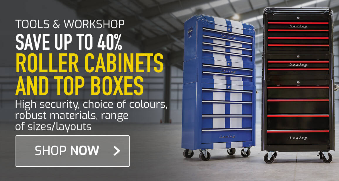 Save up to 40% on roller cabinets and top boxes