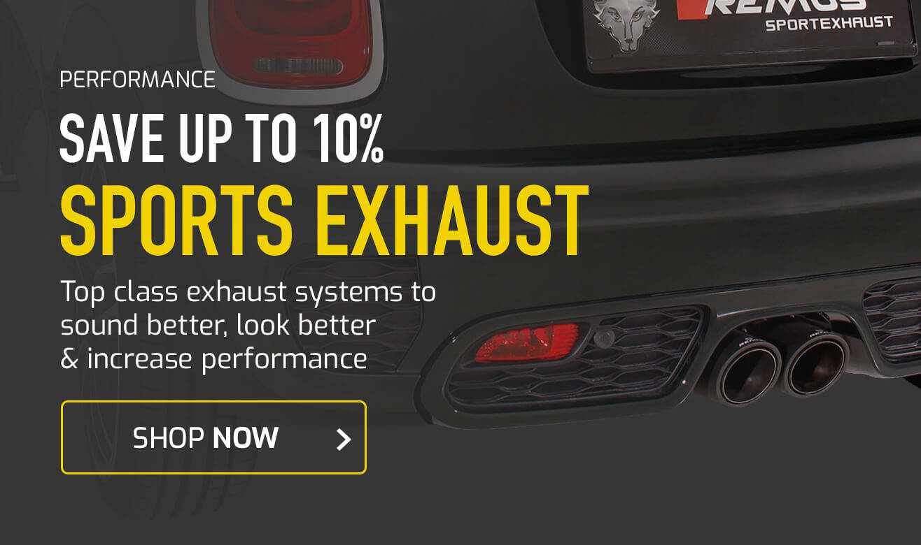 Save up to 18% on Sports Exhausts