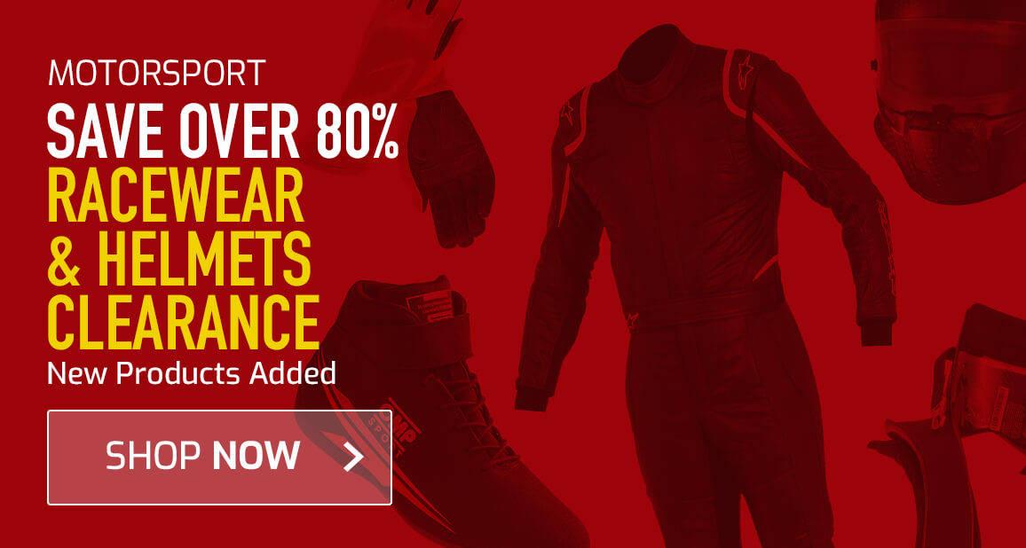 Racewear & Helmets Clearance - Save Over 80%