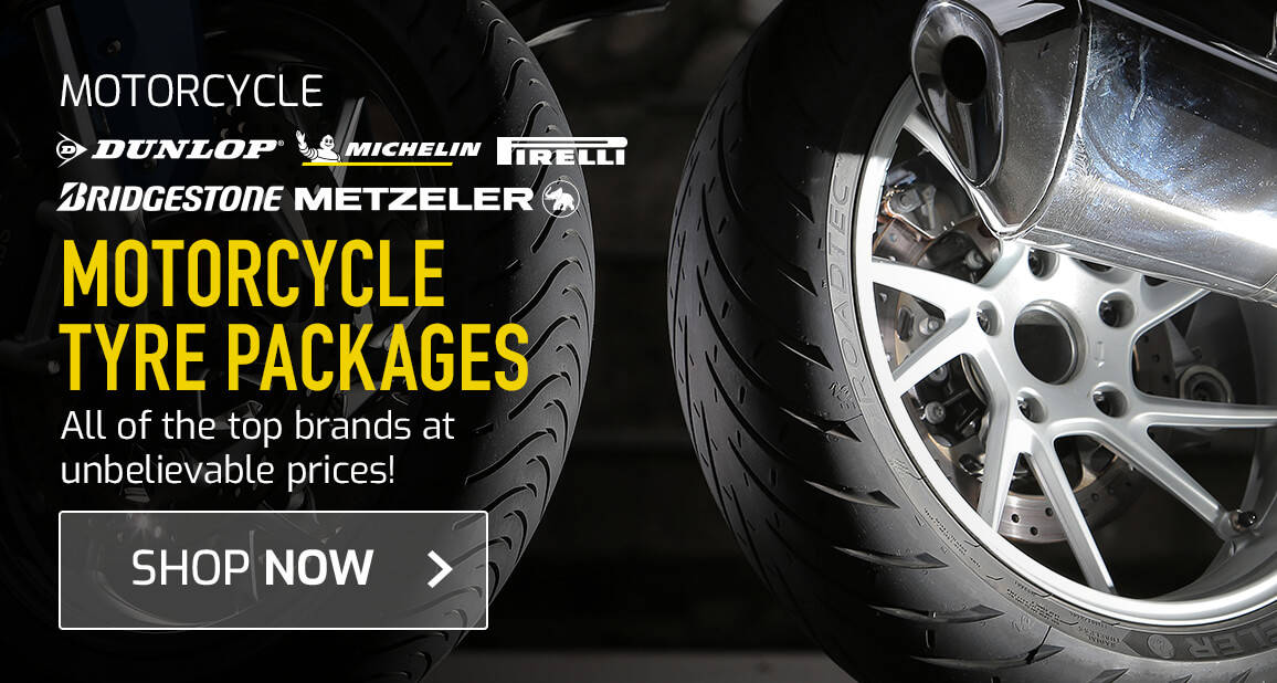 Motorcycle Tyre Packages - All of the top brands at unbelievable prices!
