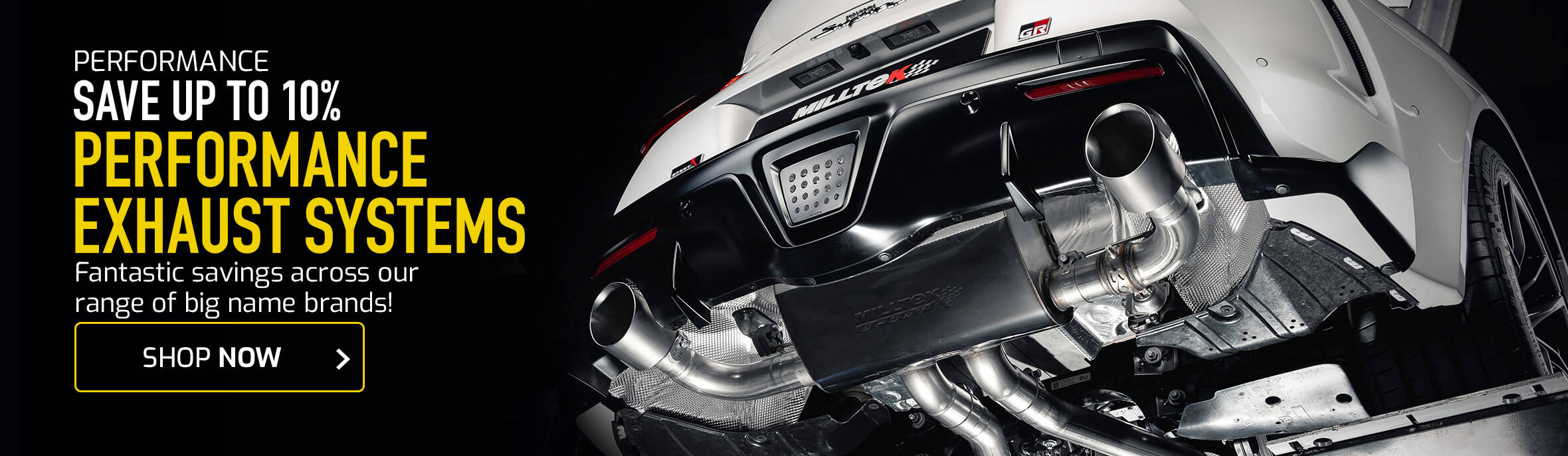 Save up to 10% on Performance Exhaust Systems