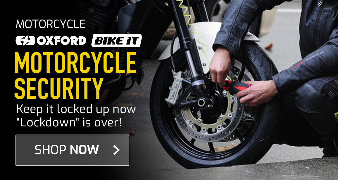 Motorcycle Security - Keep It Locked Up now 'Lockdown' is Over!