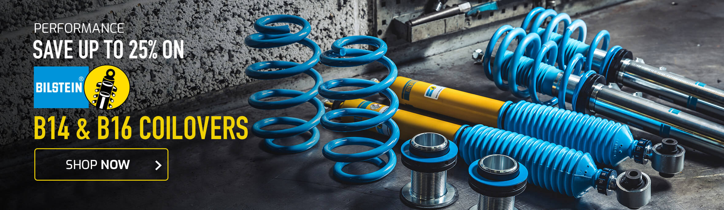 Save up to 25% on Bilstein B14 & B16 Coilovers