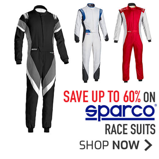 Save up to 60% on Sparco Race Suits