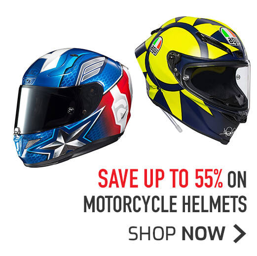 Save Up To 55% On Motorcycle Helmets
