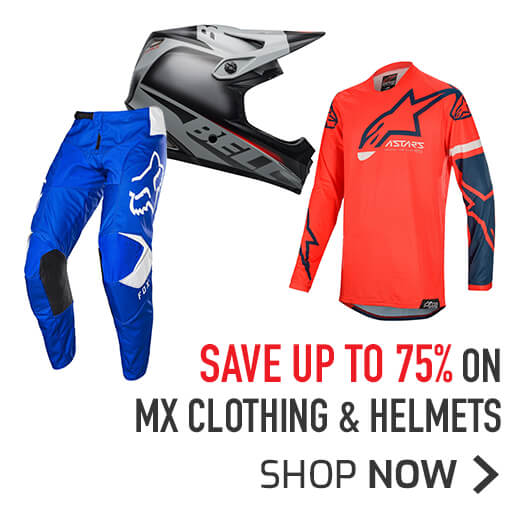 Save Up To 75% On MX Clothing & Helmets