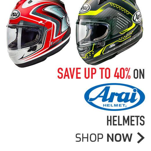 Save Up To 40% On Arai Helmets