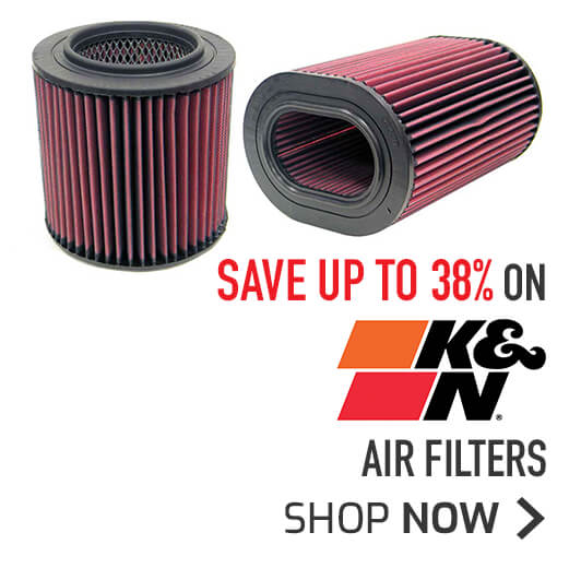 K&N Air Filters Save Up To 38%