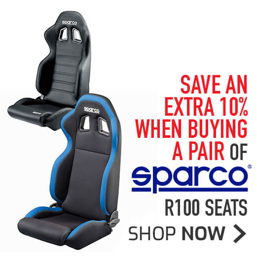 Sparco R100 Seats - Save an extra 10% when buying a pair