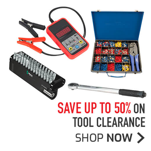 Tool clearance - Save up to 50%