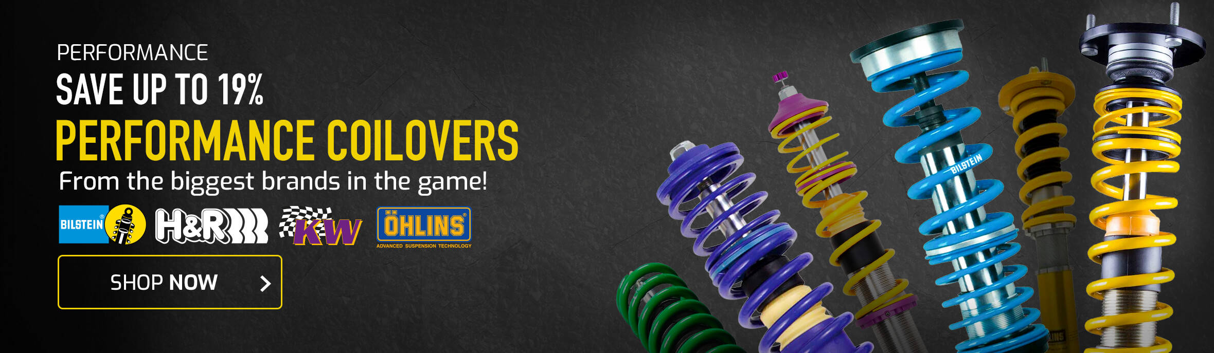 Save up to 19% on Performance Coilovers