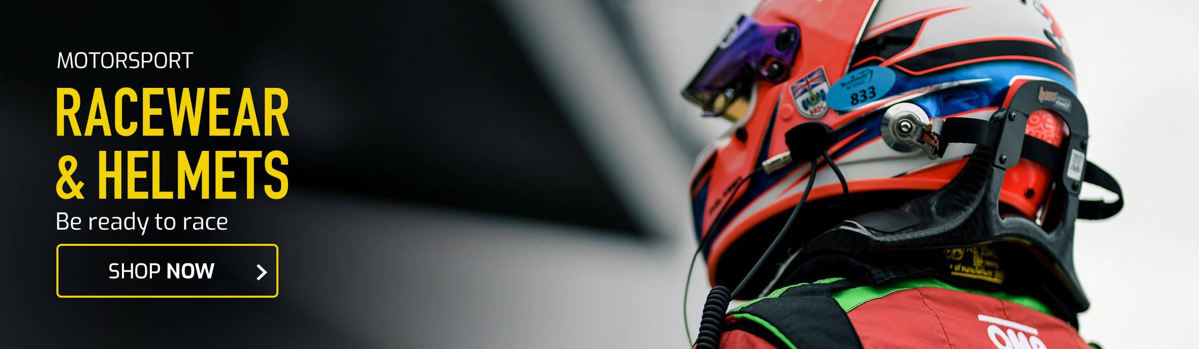 Shop Racewear & Helmets