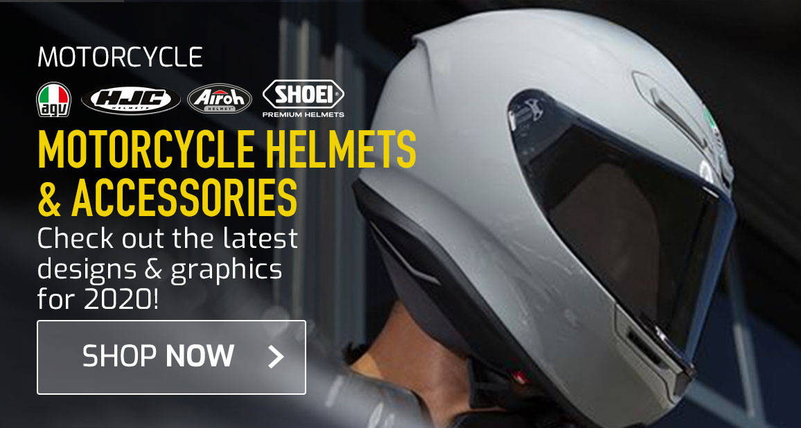 Motorcycle Helmets & Accessories - Check Out The Latest Designs & Graphics For 2020!