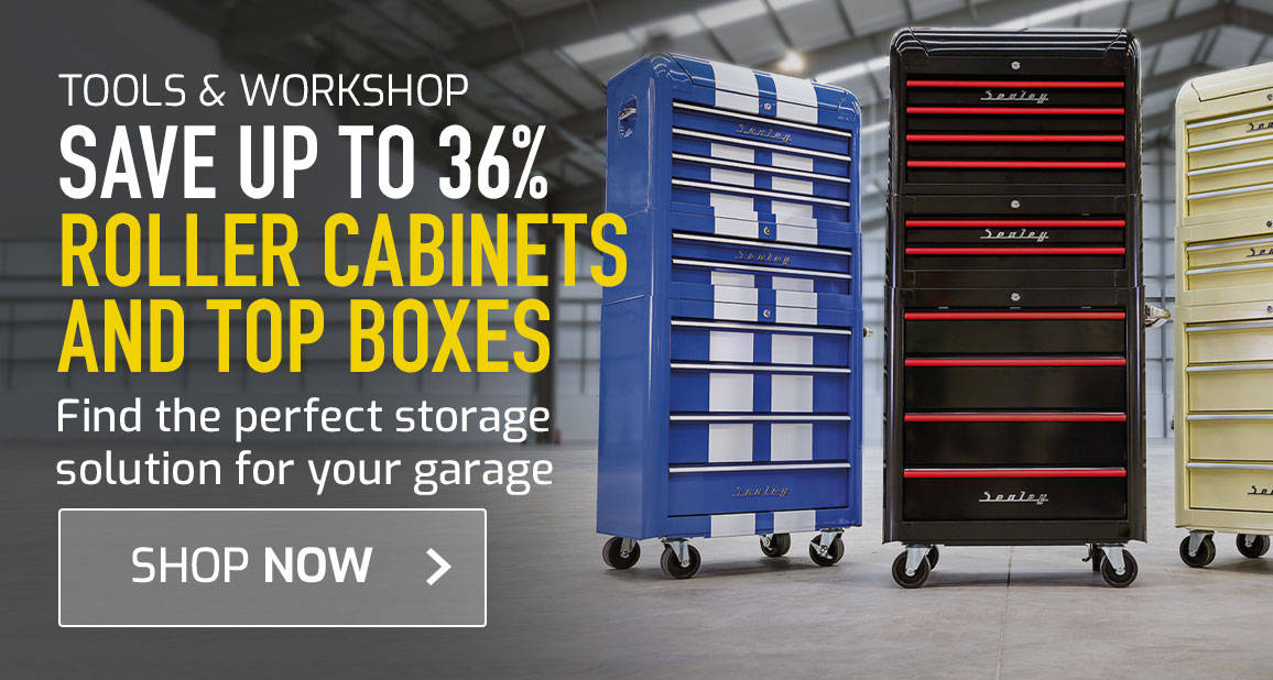 Save up to 36% on Roller Cabinets and Top Boxes