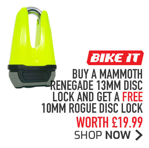 FREE 10mm Rogue Disc Lock with a Bike It Mammoth Renegade 13mm Disc Lock