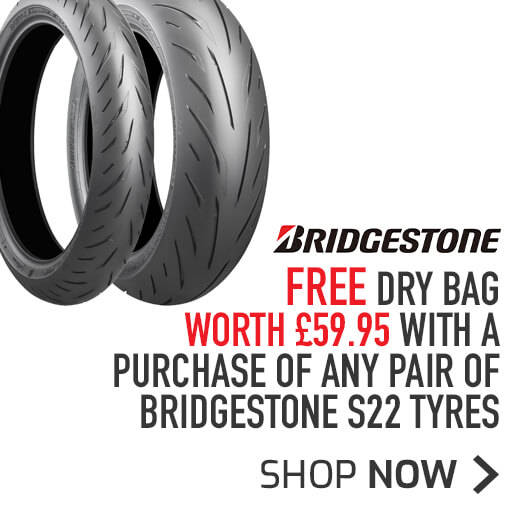 FREE Bridgestone Dry Bag with any pair of Bridgestone S22 Tyres